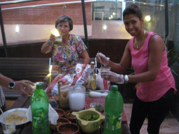 Lisandra y Mari Carmen, disfrutando del momento