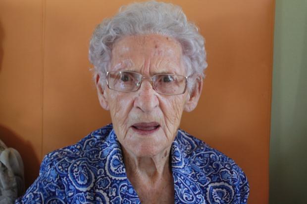 Pura sorprendida. ¿101 años? ¡Son muchos!