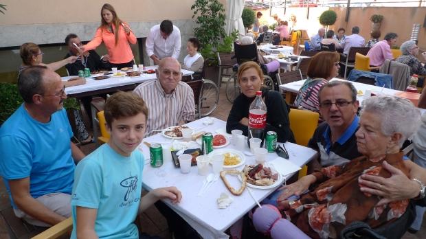 La mesa de María Amaya y Manuel Benítez