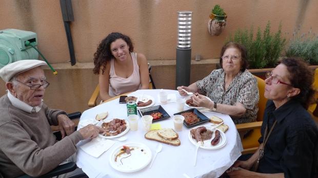 La mesa de Antonio y Rosa