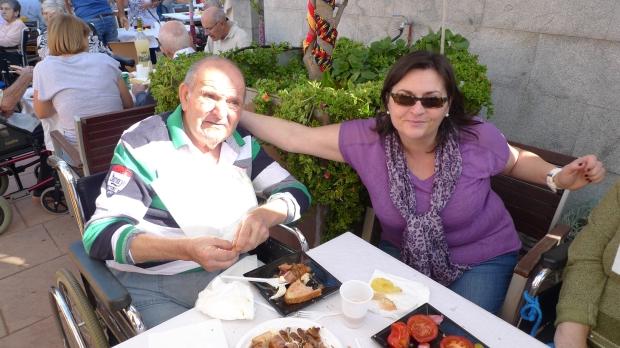 Paco Olmedo con su hija Loli