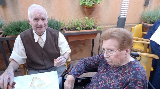 Elisa Ferrero con su marido Miguel