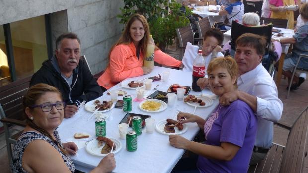 Angelita con su familia