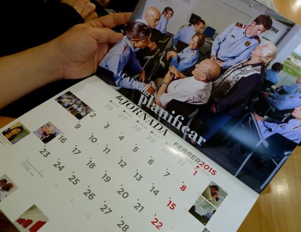 Detalle del interior del calendario