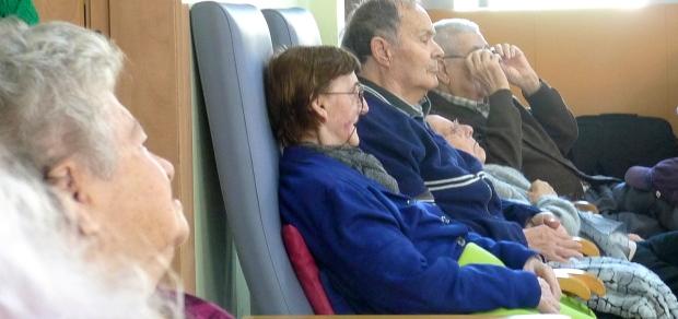 Martina y Vicente estuvieron atentos todo el rato