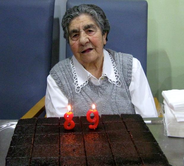 Dolores lució su mejor sonrisa para celebrar su aniversario