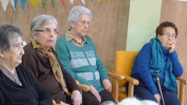 Cándida, Montse, Teresa y Pura